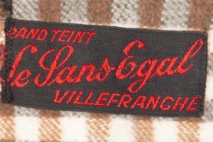 1950's deadstock Le Sans Egal kid brown velvet jacket, lemagasin,  vintage clothing, french workwear, antique clothing, french antique clothing