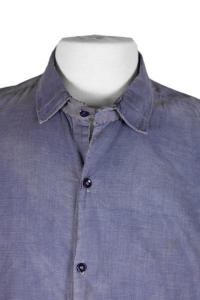 1930's french indigo linen work smock/ shirt, lemagasin, le magasin