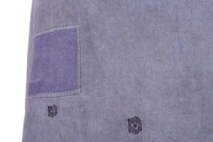 1930's french indigo linen work apron, lemagasin, le magasin