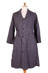 1950's french salt & pepper chambray atelier coats, lemagasin, le magasin, vintage clothing