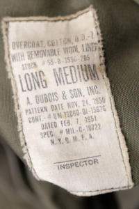1951 US Army Dress Overcoat  Korean War, Le Magasin, lemagasin, vintage clothing, militaria