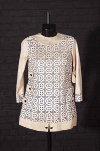 Circa 1960 french woman tunic