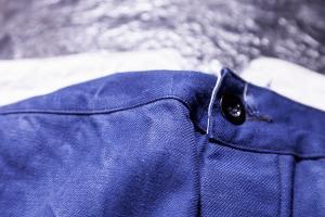 1930's french indigo linen postman pants
